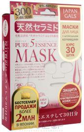 Japan Gals Маска с натуральными керамидами Pure5 Essential (30 штук)
