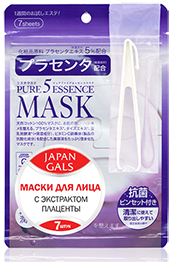 Маска с плацентой для лица Pure 5 Essential (7 штук)