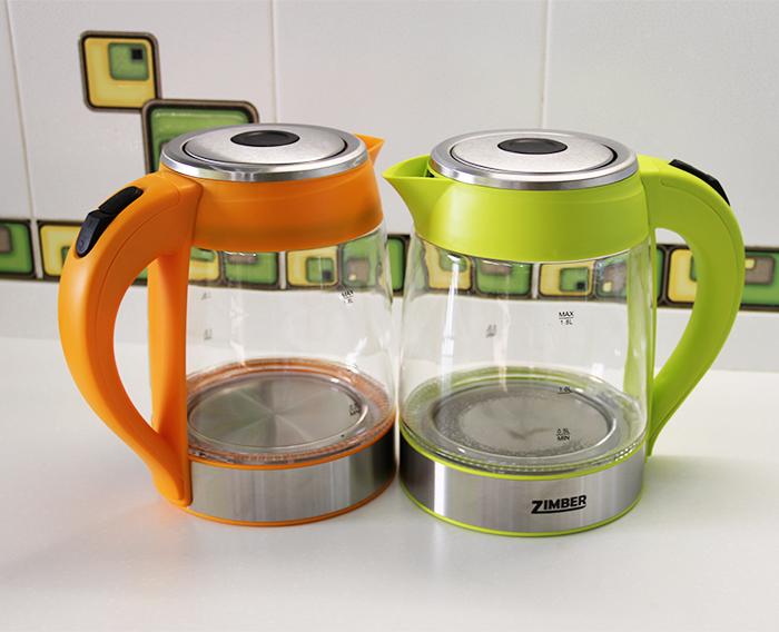 Электрический стеклянный чайник с подсветкой Zimber