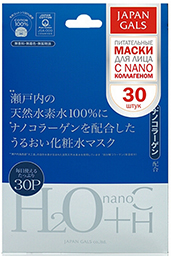 Japan Gals Маска с водородной водой и нано-коллагеном (30 штук)